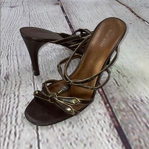 Nine West brown leather heels no box size 9.5